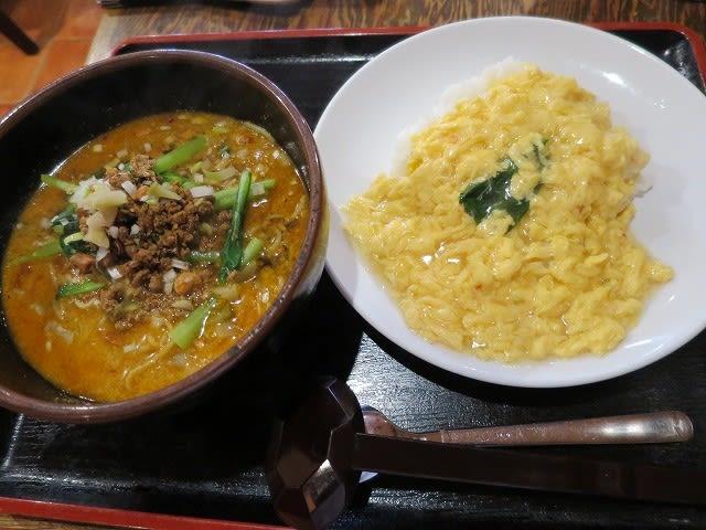 カニ玉丼と担々麺のセット