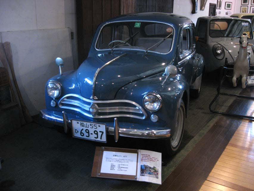 1961年式。日野自動車が仏国のルノー公団の車種をノックダウン生産した... 福山自動車時計博物