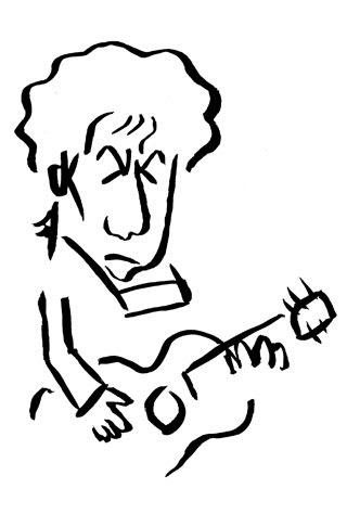 ボブ・ディランの似顔絵