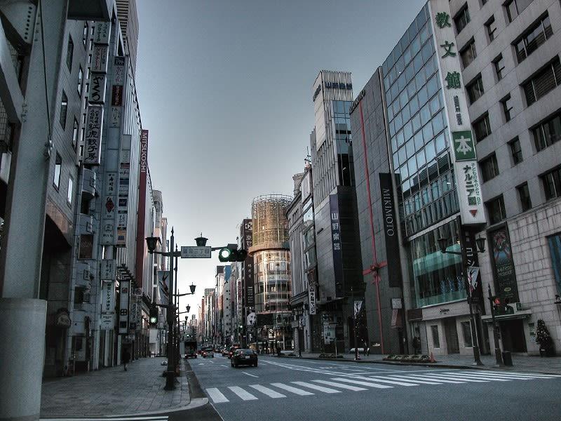 銀座通りの朝、東京風景発掘 ...