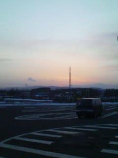 北の夕焼け