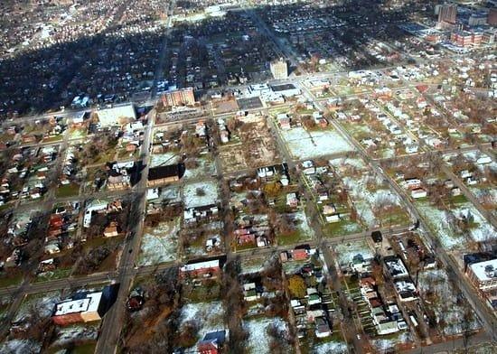 市財政が破綻した、現在のデトロイト市(クリックすれば拡大します。)