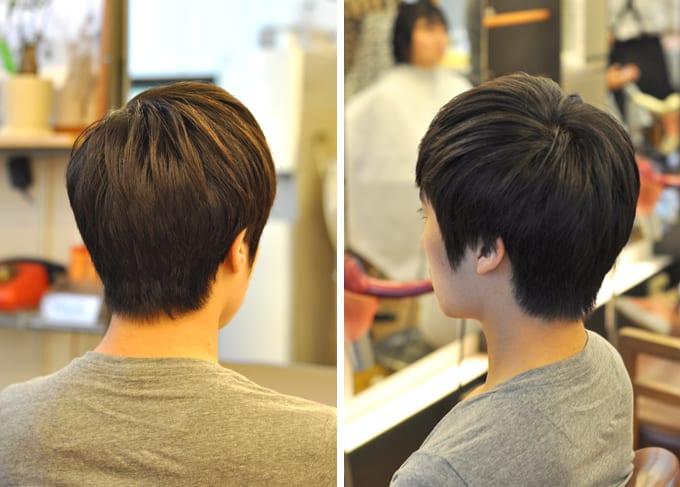 前から見ても、横から見ても、後ろから見てもすっきり。 韓国では、一番好感がもてるスタイルです。
