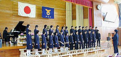 3月18日 木祖中学校卒業式 - 木祖村 Gリポート