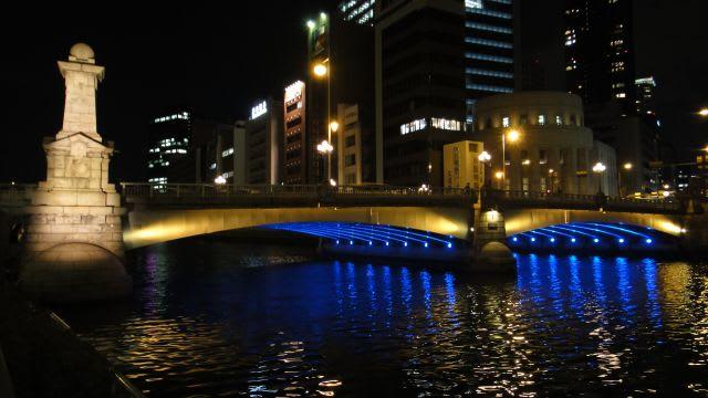 難波橋(南)ライトアップ
