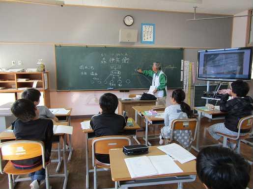 雪浦小学校 地域から学ぶ ―雪浦川を干拓した先人 森伊兵衛さん―