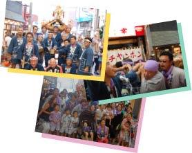 武蔵小山商店街パルムの神輿を支える人たちです