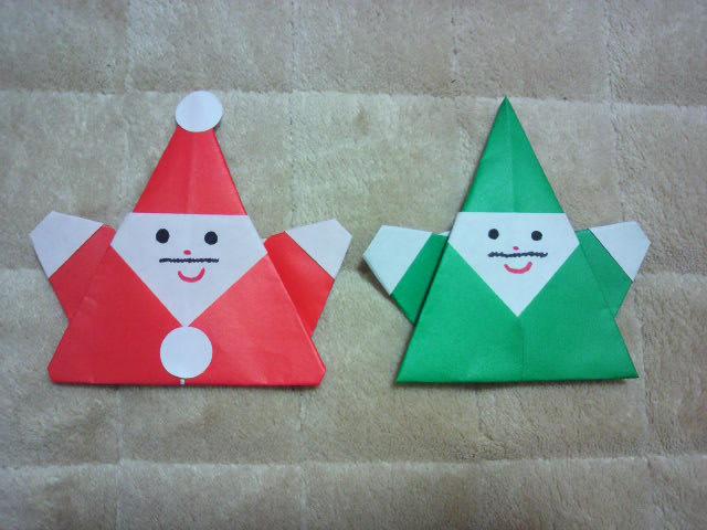 簡単 折り紙 サンタ 簡単 折り紙 : サンタクロースの折り紙が ...