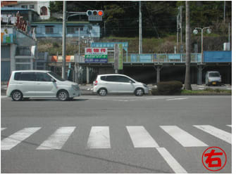 マリンタウン出口信号を右