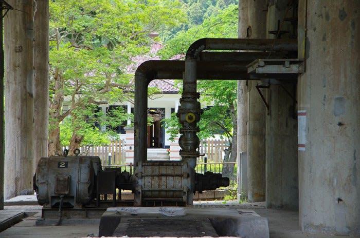 神子畑選鉱場・シックナー内部
