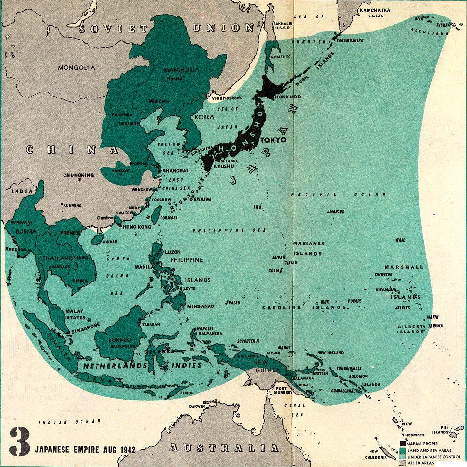 Japanese Empire Aug 1942
