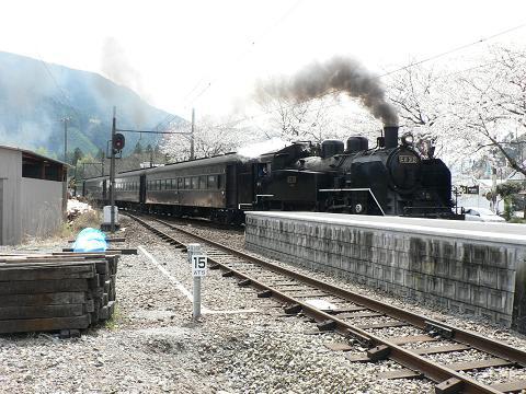 駿河徳山駅のSL