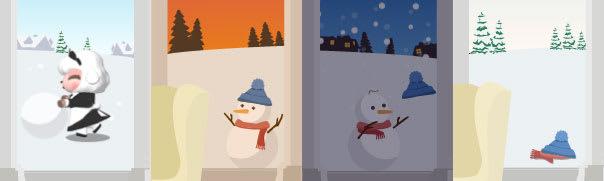 作品「雪だるまの一生」