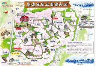 高遠城址公園の桜2015