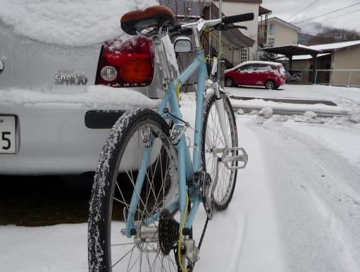雪の日の自転車通勤 - 松本探訪 ...