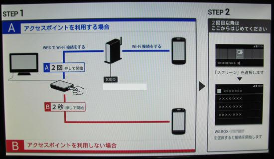 N-03Eではアクセスポイント経由の接続も可能