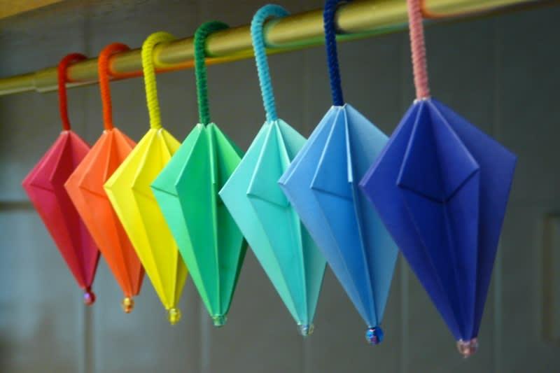 すべての折り紙 箸置き 折り方 折り紙 : 折り紙 ~パラソル~ - えつこ ...