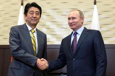 モスクワ/ソチ(ロシア) 6日 ロイター] , ロシア通信(RIA)は、ペスコフ大統領報道官の話として、日ロ首脳が6日の会談で北方領土問題について「建設的」な