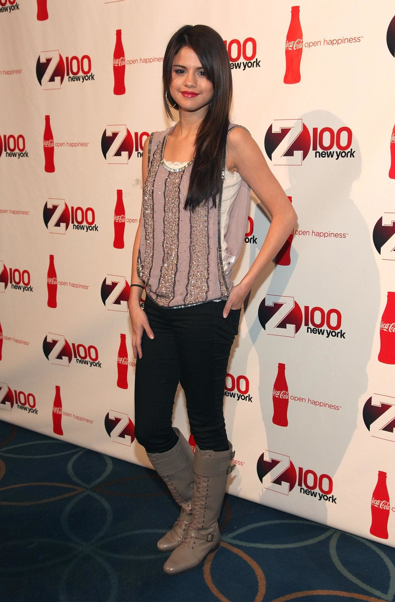 Selena gomez pictured at the disney channel games 2008 red carpet at epcot center in orlando florida on may 2, 2008