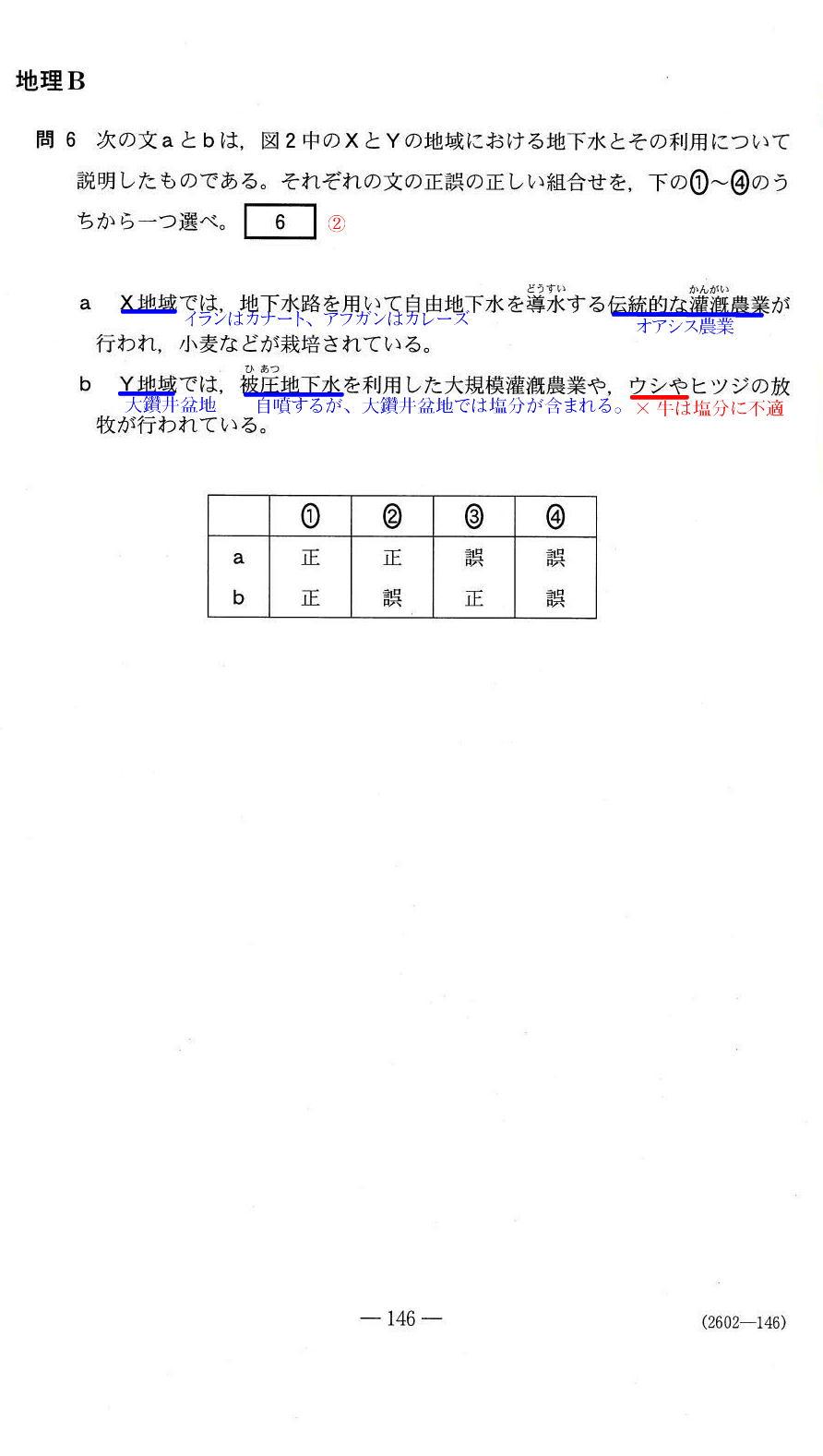 地理B問題解答解説  2013年センター試験/附:地理A
