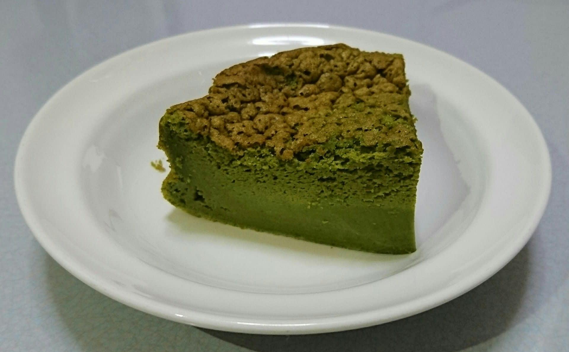 抹茶のマジックケーキ:カットしたイメージ