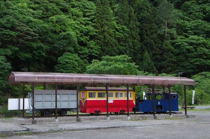 神子畑選鉱場跡・明神電車