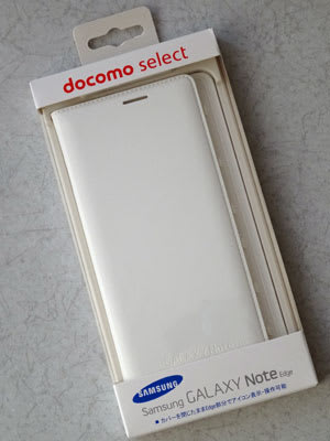 docomo selectブランドのGALAXY Note Edge Flip Wallet