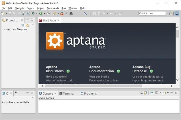 Aptana Studio 3.6.1インストー...