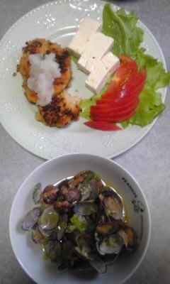 今日の夕飯[和風ハンバーグ]