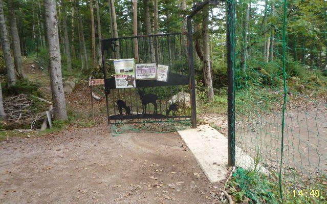 登山口ゲート