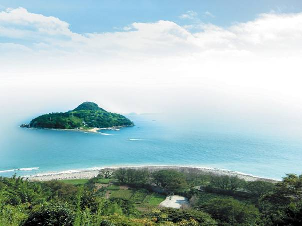 韓国旅行、夏、海辺