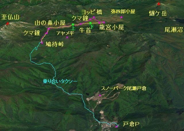 尾瀬ヶ原散策マップ
