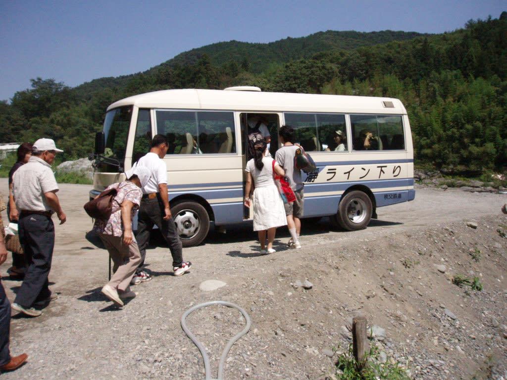 又元の場所に送ってくれるバス