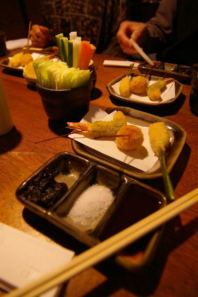谷中生姜の肉巻き・栗・エビのシソ巻き