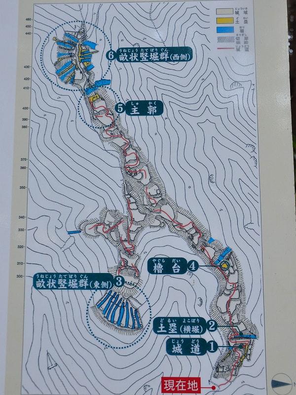 大和布施城跡図