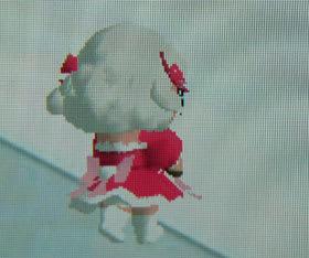 iモード版お洒落メイドコースのメイちゃん(バレンタイン)の後ろ姿