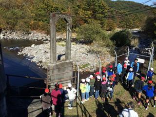 澄川取水堰を見学