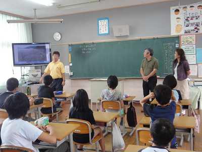 雪浦小学校 アカウミガメの学習をはじめました
