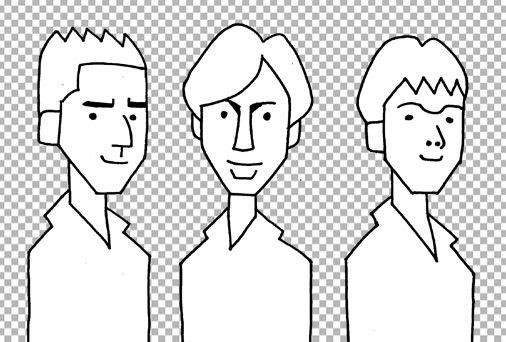 少年隊の似顔絵