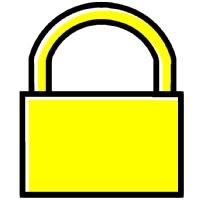 ステータスバー(画面上部)に「鍵のマーク」が表 …