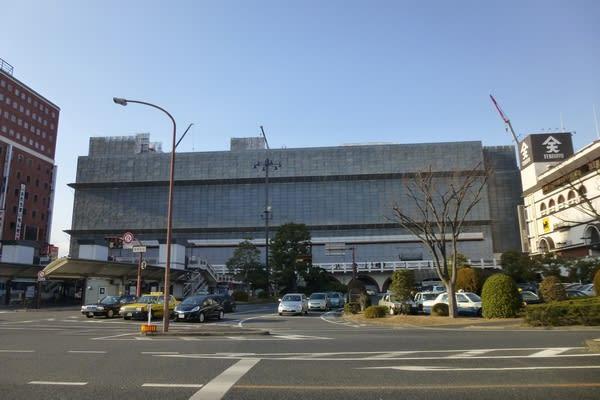 倉敷駅ビルの解体工事進む