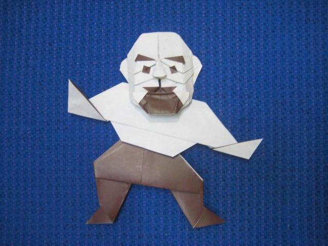すべての折り紙 折り紙パンダ顔折り方 : 創作折り紙の折り方・・・