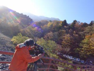地元のテレビ局のカメラマンKさん。何気に大山関係者はKさん多いなぁ。