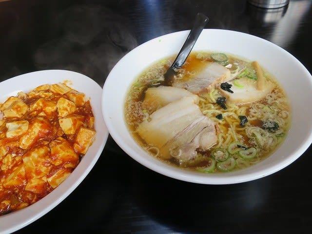 チャーシューラーメン+麻婆飯