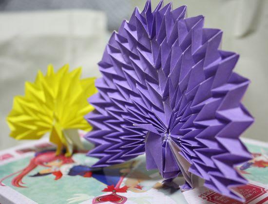 簡単 折り紙 折り紙 孔雀 折り方 : blog.goo.ne.jp