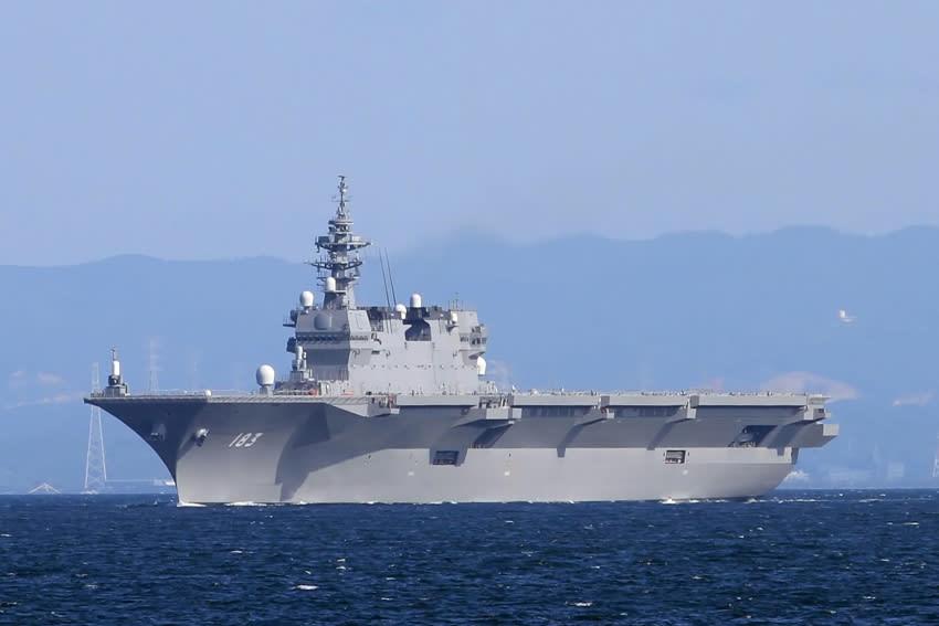ヘリコプター搭載護衛艦 DDH-183 「 いずも 」 月曜に初公試航... ヘリコプター搭載護