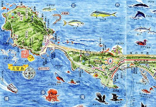 昨日23日の西日本新聞夕刊の博多湾特集に、絵地図作家・村松 昭作「博多... 博多湾つれづれ紀行