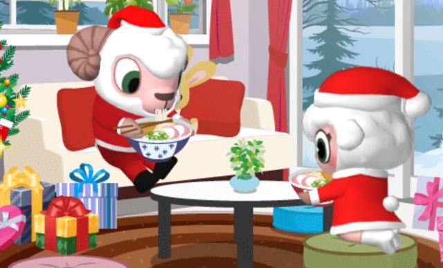 クリスマスにうどん