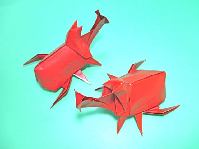 ハート 折り紙 カブトムシ 折り紙 折り方 : blog.goo.ne.jp