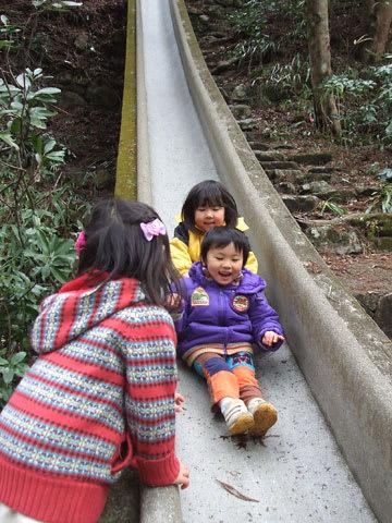鼓ヶ滝公園のすべり台